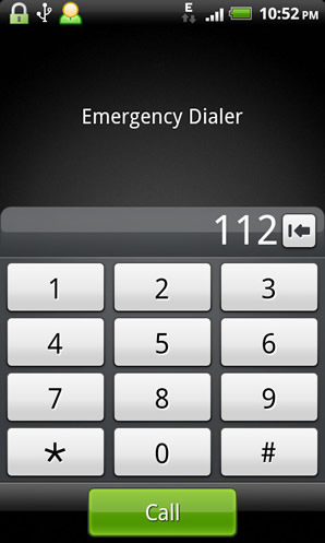 GSM emergency phone number 112